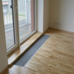 Hevea - detail podlahy u balkónových dveří