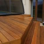 Terasa ipe - schodiště, detaily